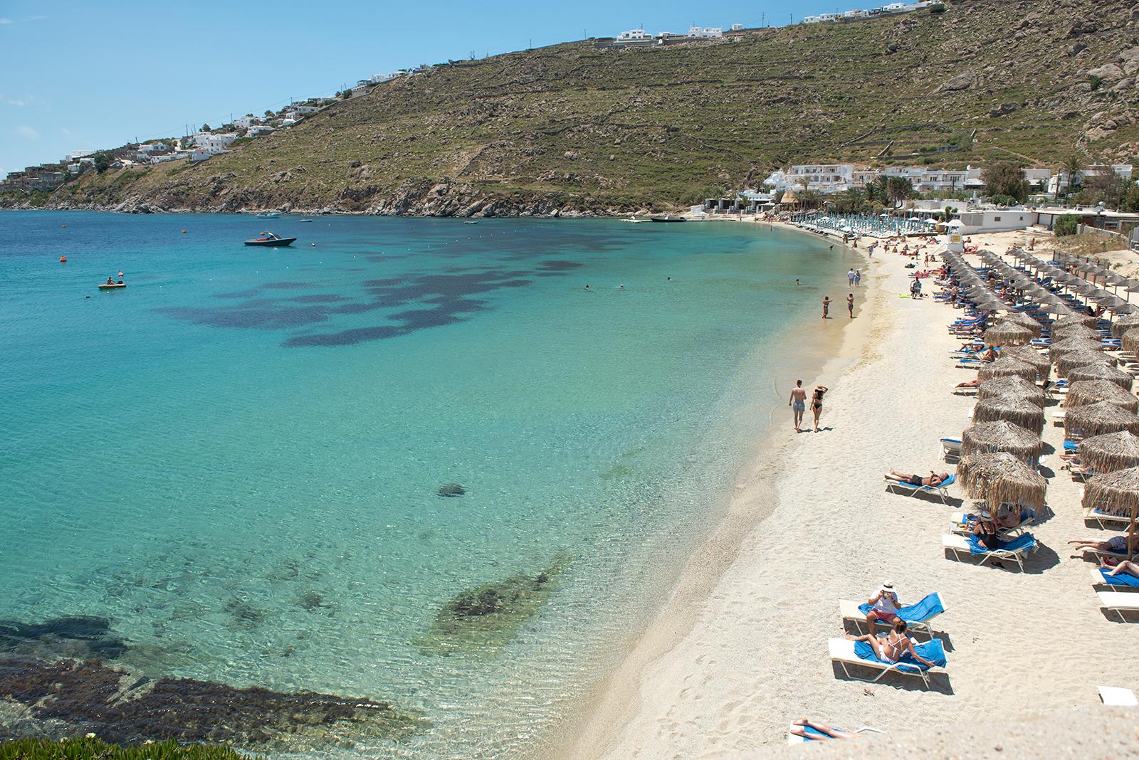 beach in Mykonos Greece