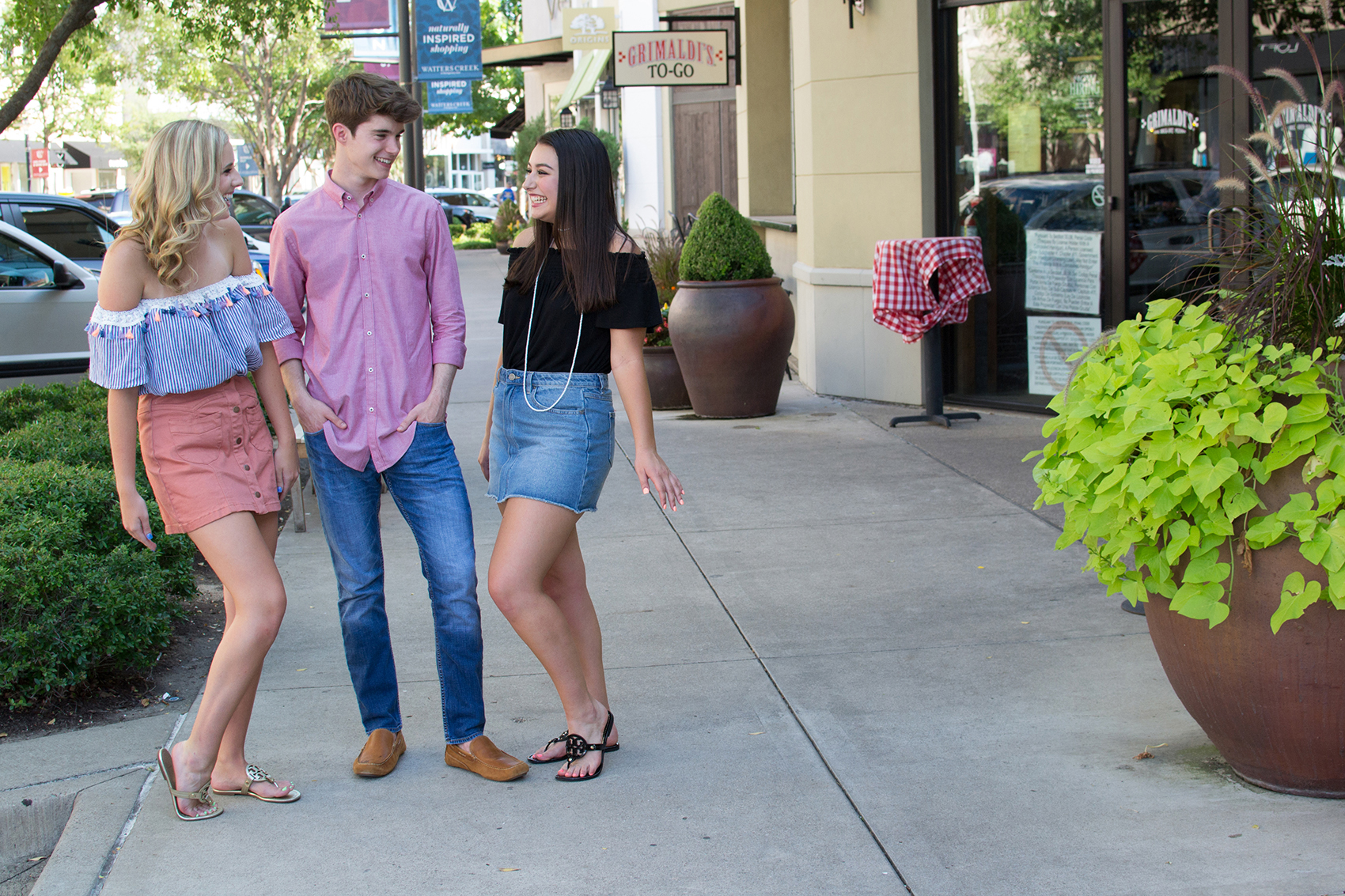 friends laughing at watters creek
